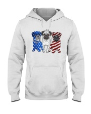 Pugs Flag Hooded Sweatshirt thumbnail