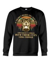 Rottweiler Believe Crewneck Sweatshirt thumbnail
