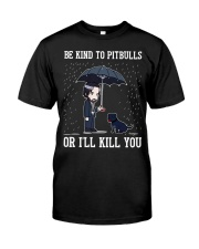Be Kind To Pitbulls Classic T-Shirt thumbnail