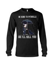 Be Kind To Pitbulls Long Sleeve Tee thumbnail