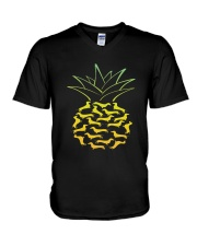 Dachshund - Pineapple V-Neck T-Shirt thumbnail