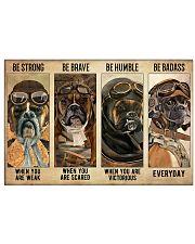 Boxer Pilot Be Badass 17x11 Poster front