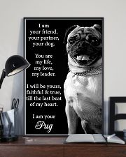 Pug Friend Poster 11x17 Poster lifestyle-poster-2