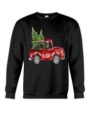 Rottweiler Christmas Car Crewneck Sweatshirt front
