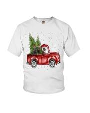 Rottweiler Christmas Car Youth T-Shirt thumbnail