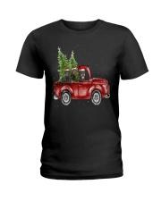 Rottweiler Christmas Car Ladies T-Shirt thumbnail