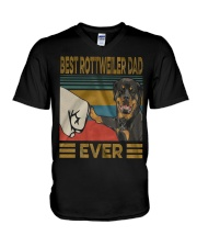 Rottweiler Dad V-Neck T-Shirt thumbnail