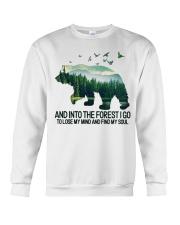 Bear And Into I Go To Lose My Mind Crewneck Sweatshirt thumbnail