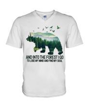 Bear And Into I Go To Lose My Mind V-Neck T-Shirt thumbnail