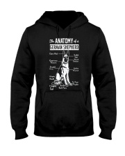 German Shepherd Anatomy Hooded Sweatshirt thumbnail