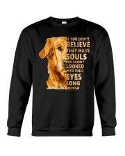 Golden Retriever Believe Crewneck Sweatshirt thumbnail