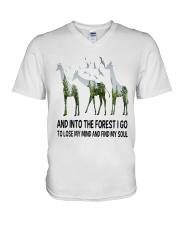Giraffe Soul V-Neck T-Shirt thumbnail