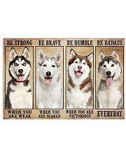 Husky Badass 17x11 Poster front