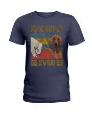 Dachshund Dad Best EVER Ladies T-Shirt thumbnail