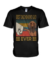 Dachshund Dad Best EVER V-Neck T-Shirt thumbnail
