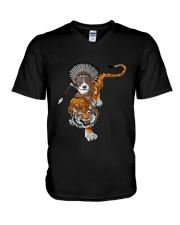 Pitbull Tigre  V-Neck T-Shirt thumbnail
