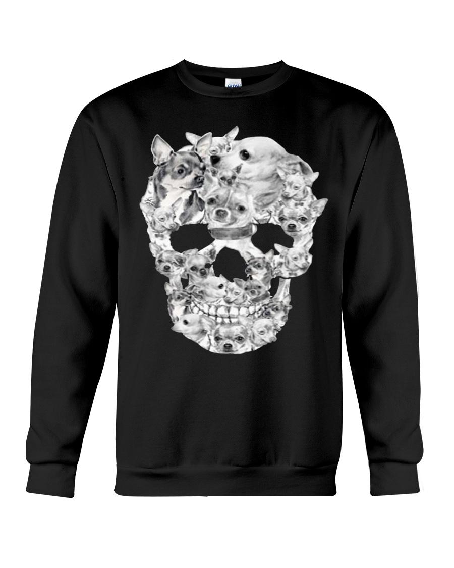 Chihuahua Skull  Crewneck Sweatshirt