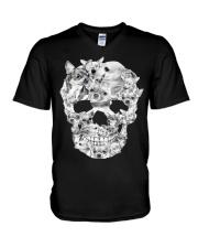 Chihuahua Skull  V-Neck T-Shirt thumbnail