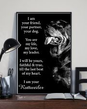 Rottweiler Friend Poster 24x36 Poster lifestyle-poster-2