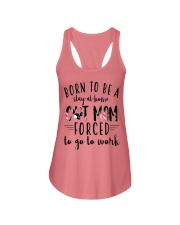 Born to be a stay at home Cat Mom Ladies Flowy Tank thumbnail