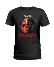 Pugs Halloween Grr Ladies T-Shirt thumbnail