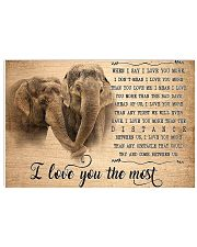 Elephant I Love You The Most 17x11 Poster front