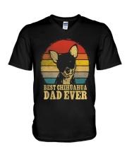 Chihuahua Dad Best  V-Neck T-Shirt thumbnail