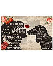 Dachshund Girl Therapist Best Friend 17x11 Poster front
