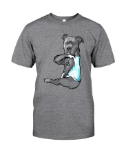 Pitbull Dad Classic T-Shirt front