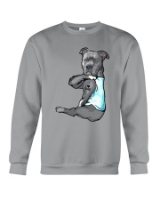 Pitbull Dad Crewneck Sweatshirt thumbnail