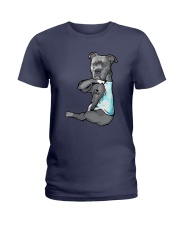Pitbull Dad Ladies T-Shirt thumbnail