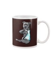 Pitbull Dad Mug tile