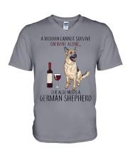 Woman Need Gsd V-Neck T-Shirt thumbnail
