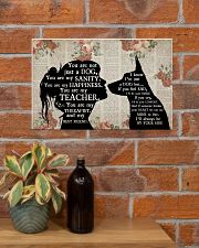 German Shepherd Girl Therapist Best Friend 17x11 Poster poster-landscape-17x11-lifestyle-23