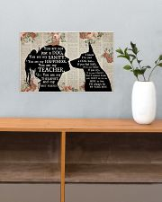 German Shepherd Girl Therapist Best Friend 17x11 Poster poster-landscape-17x11-lifestyle-24