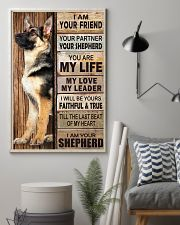 German Shepherd Friend 11x17 Poster lifestyle-poster-1
