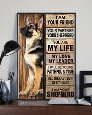German Shepherd Friend 11x17 Poster lifestyle-poster-2