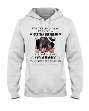 i'm Baby German Shepherd Hooded Sweatshirt front