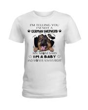 i'm Baby German Shepherd Ladies T-Shirt thumbnail