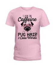 Pug Hair Ladies T-Shirt thumbnail