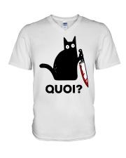 Chat Quoi  V-Neck T-Shirt thumbnail