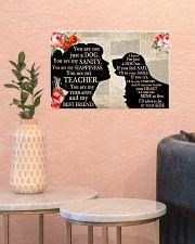 Golden Retriever Girl Therapist Best Friend 17x11 Poster poster-landscape-17x11-lifestyle-21