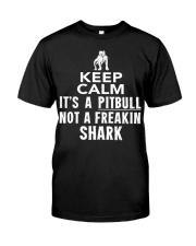 Pitbull Its Not Shark Classic T-Shirt front