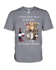 Woman Needs a Chihuahua V-Neck T-Shirt thumbnail