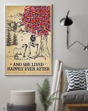 Pug Lived Happily 11x17 Poster lifestyle-poster-1