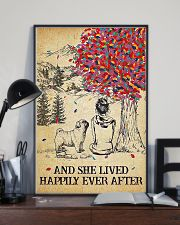Pug Lived Happily 11x17 Poster lifestyle-poster-2