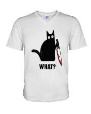 Cat What Hall V-Neck T-Shirt thumbnail