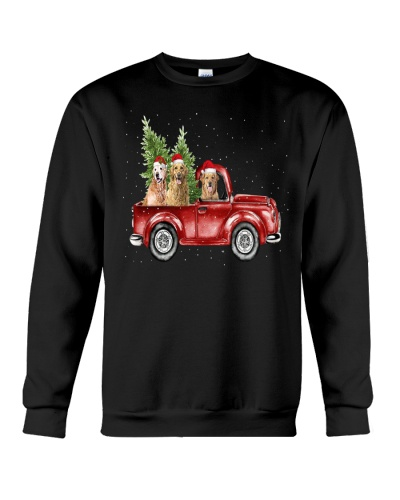 Golden Retriever Christmas Car