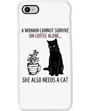 Woman Need Cat Coffee Phone Case thumbnail