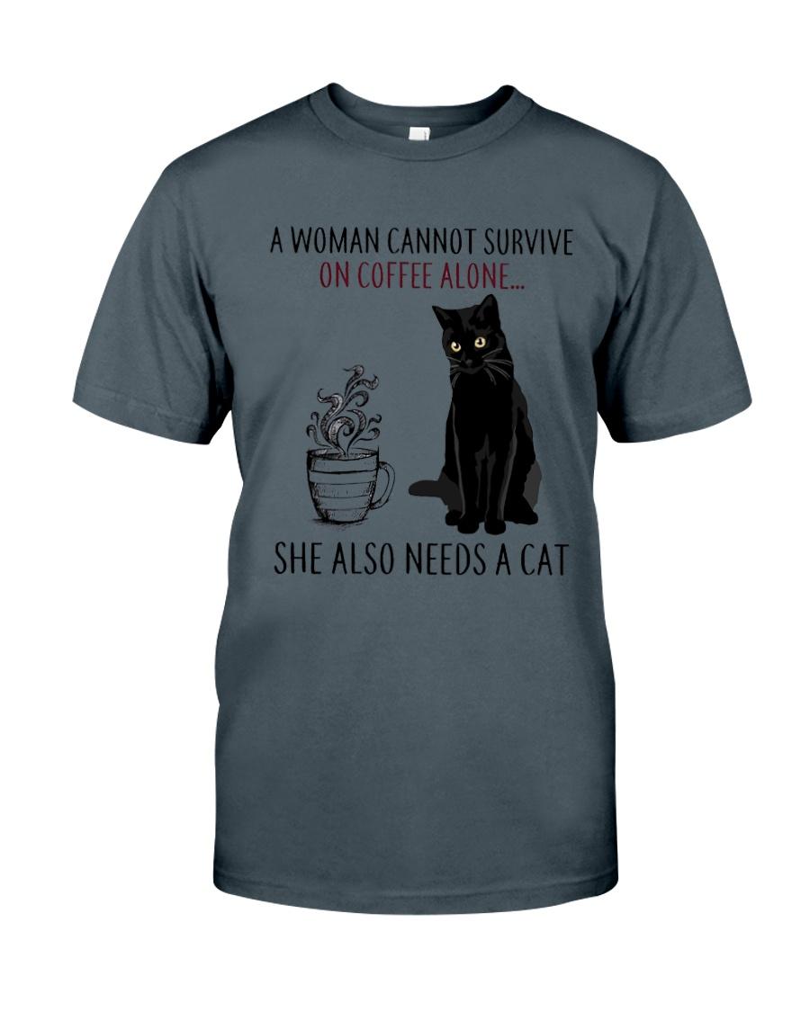 Woman Need Cat Coffee Classic T-Shirt